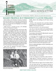 2014 Newsletter